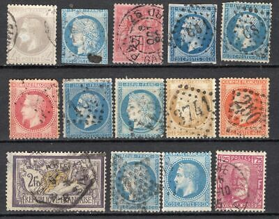 Lot France Mi26, 1862 - 1870 and other, used, combine shipping 33