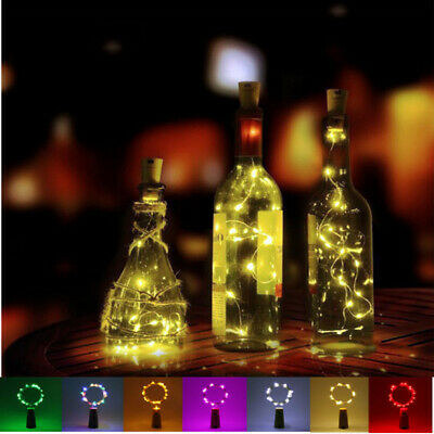 2M 20LED Copper Wire Wine Bottle Fairy String Ligths For Festival Wedding Party