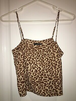 Cotton On Top Leopard Print Tank Size XS Brand New