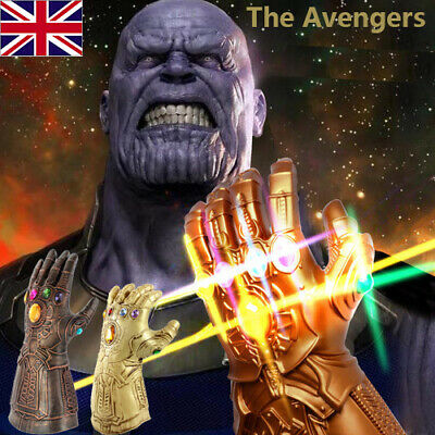 Avengers 3,4 Infinity War Infinity Gauntlet LED Light Thanos Gloves Cosplay Cool