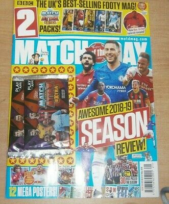 Match of the Day magazine #555 2019 Awesome Season Review + posters & MAE cards