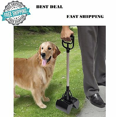 Black Dog Pet Pooper Scooper Jaw Poop Scoop Clean Pick Up Tool Long Handle UK