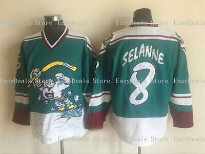 3228fc9f1 Teemu Selanne Jersey Anaheim Mighty Ducks Wild Wing 9 Paul Kariya Stitched  Throw