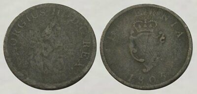 ☆ 200+ Year Old - King George III Colonial Copper Coin ☆