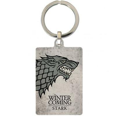 Game Of Thrones Souvenir Collectable Metal Keyring Key Ring Stark