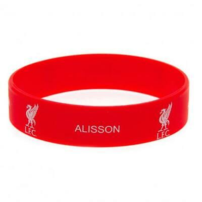 Liverpool FC Silicone Rubber Wristband Bracelet One Size Fits All Alisson