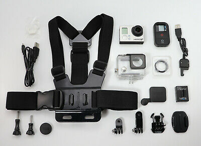 Gopro Hero 3+ Plus Black Edition 1080P 4K Camcorder & Wifi Remote / Chest Mount