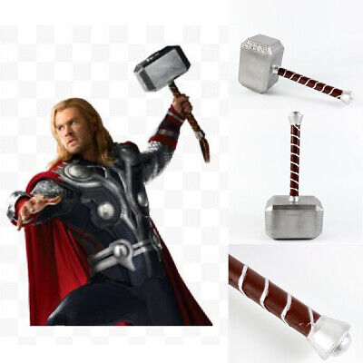 1:1 The Avengers Thor Hammer Replica Cosplay Prop Mjolnir Halloween Decor GiftPU