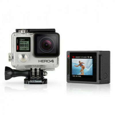 GoPro HERO4 Silver Edition 4K30 Video 12MP Camera Camcorder CDDHY-401 LCD Screen
