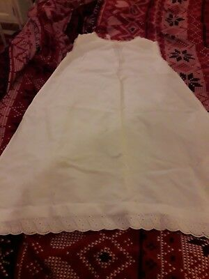 Childs Vintage Cotton Petticoat Trimmed In Lace