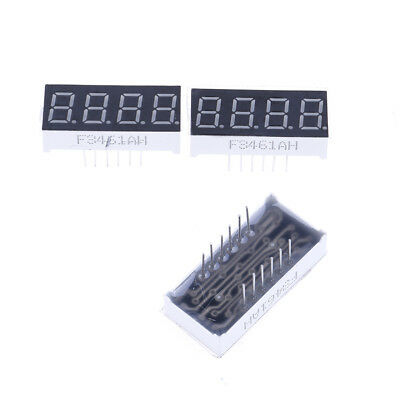 2pcs 0.36 inch 4 digit led display 7 seg segment Common cathode Bright Red TR HO
