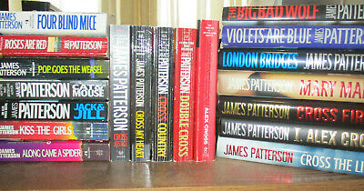 Lot of (9) ALEX CROSS 1st/1st Hardcover Books by James Patterson
