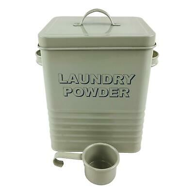 Lesser & Pavey Sage Laundry Washing Powder Storage Tin Container Box With Scoop