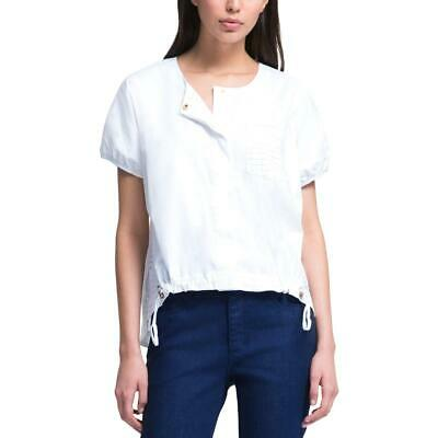 13fdbbea NWT DKNY PURE B Delivery White Eyelet Blouse, sz 4 - $59.99 | PicClick
