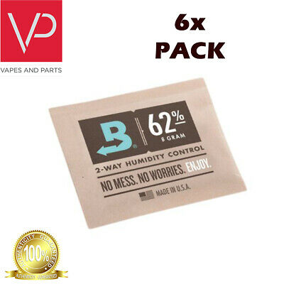 Boveda Medium 8 Gram Humidipak 62% - 6 Pack