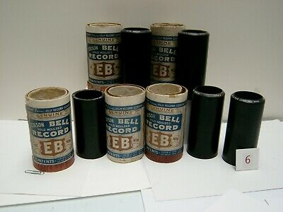 Five (5) Edison Bell 2 Minute Cylinder Records