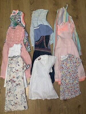NEXT Girls Summer Bundle Of Clothing Dresses Tops Floral H&M Vgc  Age 3-4 Years
