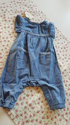 Lupilu Pure Collection Overall Jeans Jumpsuit blau Gr. 56 NEU