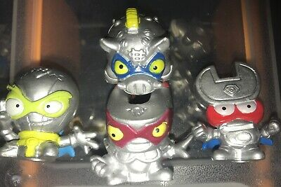 SuperZings Rivals of Kaboom Rare 4 X Silver Finish Super Zings