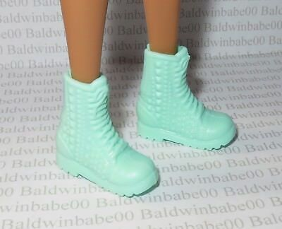 Hb ~ Shoes Petite Fashionista Barbie Doll Mint Green Textured Faux Lace Boots
