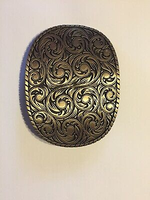 ADM Solid Brass Belt Buckle Great Used Condition