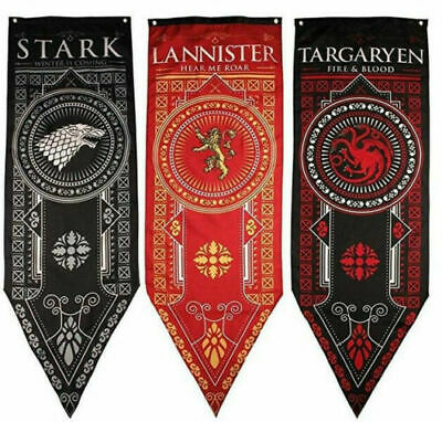 Game of Thrones House Targaryen Lannister Stark Tournament Banner Set 3