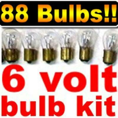 assorted 6V light bulbs For 1941 and up Vtg cars kit of 88 bulbs for low price!