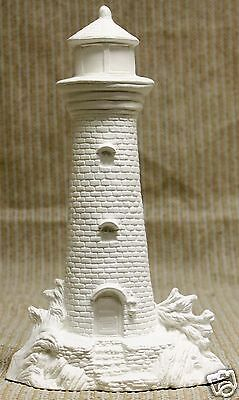 Ceramic Bisque Small Lighthouse Nowell Mold 2019 U-Paint Ready To Paint