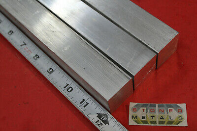 "3 Pieces 1-1/4""x 1-1/4"" SQUARE ALUMINUM 6061 SOLID BAR 12"" long T6511 Mill Stock"