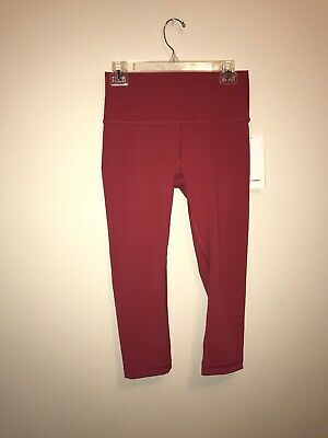 73a77afae53496 LULULEMON LIGHT CORAL Pink Wunder Under Leggings sz 8 - $34.99 ...