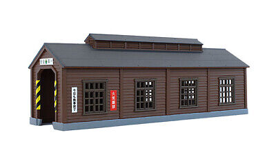 Rokuhan S051-1 Z Scale Wood Engine House (Dark Brown) (1/220 z scale)
