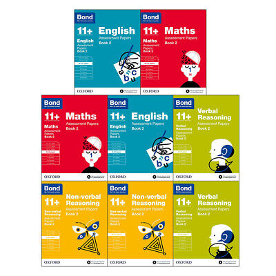 Bond 11+:Assessment Papers Book 2 Year 9-11 Bundle -8 Books Collection Set NEW
