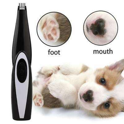Rechargeable Cat Dog Foot Hair Trimmer Electrical Pet Shaver Foot Hair Clipper