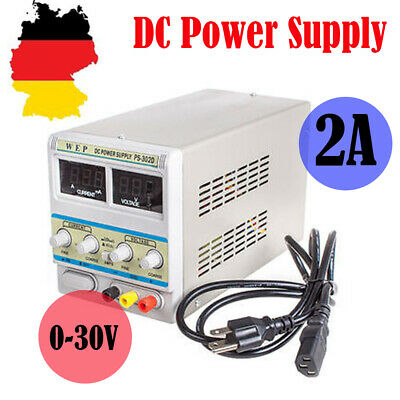 DC Trafo Regelbar Netzgerät Labornetzteil 30V 2A Power Supply LED Display WEP