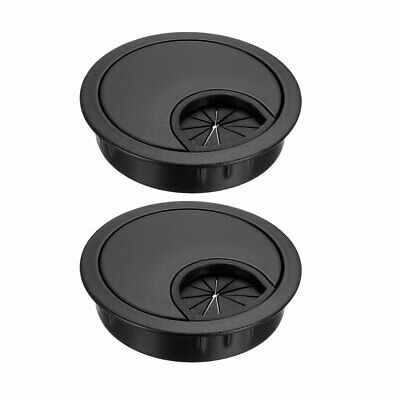 "Cable Hole Cover, 2-1/8"" Zinc Alloy Desk Grommet for Wire Organizer, 2pcs(Black)"