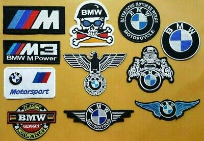 BMW M POWER RACING MOTORCYCLE MOTOR SPORT CAR Embroidered Iron Sew On Patch Logo