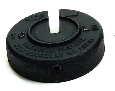 American Balance 10Lbs Cast Iron Slotted Calibration Weight NBS Class Calibrated