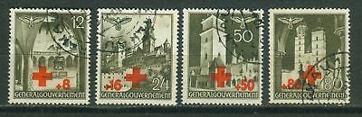Generalgouvernement 52 - 55 ** * o Red cross 1940