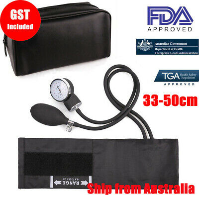 Large Aneroid Sphygmomanometer Stethoscope Kit Manual Blood Pressure BP Cuff