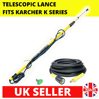 7.2m 24ft Telescopic Lance Click Karcher K-Series Pressure Washer & 10M Hose