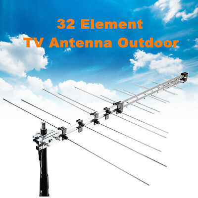 Mytopia TV Antenna 32 Element Outdoor Aerial TV UHF VHF HD Digital FM