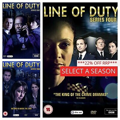 Line of Duty Series 1234 (DVD) Box Set Complete Collections Season 1-4 BBC