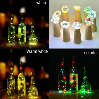 2M 20 Led Fairy String Lights Battery Copper Wire Wine Bottle Festival Party UK