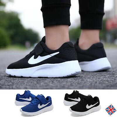 Kids Boys Children Sports Running Shoes Athletic Casual Trainers Sneakers Solid