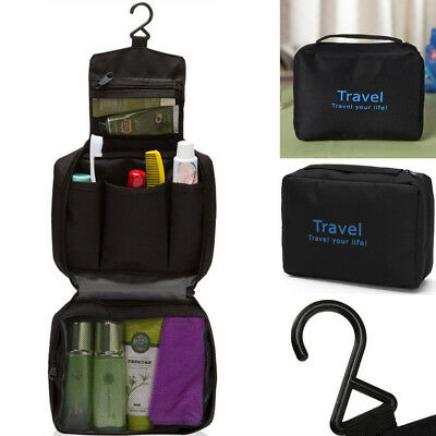 New Travel Waterproof Toiletry Wash Pouch Cosmetic Bag Makeup Case Hanging Bag !