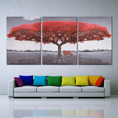 Large Red Tree Canvas Modern Home Wall Decor Art Painting Picture Print No