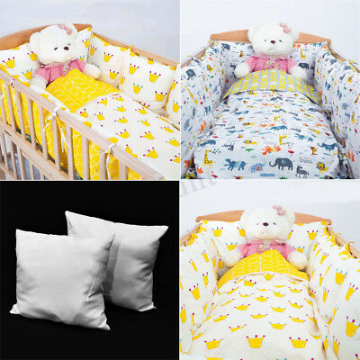 4Pcs Baby Infant Toddler Crib Bumper Breathable Comfy Cotton Bed Cot