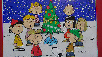 Christmas Charlie Brown Peanuts Cel Cell Animation Art