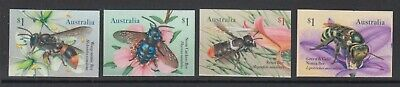 Australia 2019 Native Bees mint unhinged set 4 self adhesive stamps