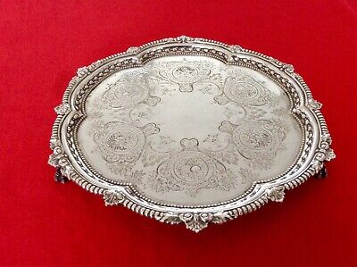 Superb 19th Century Repousse Silver Plated Footed Salver MAPPIN BROTHERS C1870